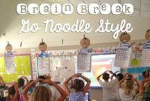 Easy Brain Breaks / Brain breaks in the classroom, Go Noodle, movement breaks for kids.