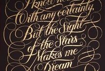 Typography and Fonts / Beautiful Lettering and Calligraphy