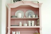 Painted vintage cabinets