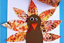 Easy November / Easy November projects, fall art, Thanksgiving projects, and Thanksgiving art for your classroom.