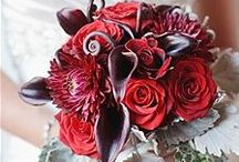 Red wedding ideas / #palette with red.  Red is passion, perfect for a winter wedding Hate or love?