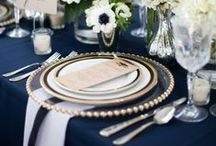 Tablescapes / Table setting styles fo wedding ad party. #placesetting #tablecloth #linens #napkins