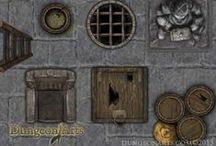 Fantasy Map Objects / Fantasy map object for tabletop role playing and Virtual tabletops.