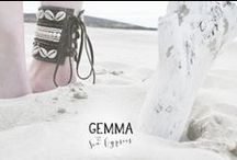 G E M M A // A N K L E C U F F S / Our handmade designs are a collection of beads, seashells, rope and other beach-like treasures the tide carries in on the waves. All delicately threaded onto ankle cuffs.