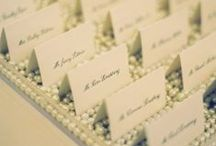 Escort cards / A easy way to seat your guest at wedding reception.