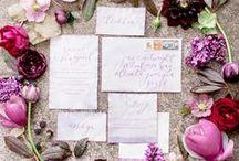 Stationery / Graphic designs for wedding stationery. #suitegrafica #menu #escortcards #invitations