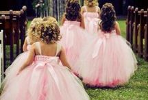 Flower girls and ring bearer / Little but important figures and roles in your wedding. #dresses #flowers #ringbearer #rosepetals