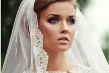 Bride hats and veils / Everything you put on your head for wedding day #veil #hat #flowers #band #tiara #jewels #bow
