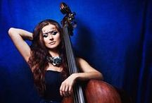Megitza / Megitza, upright bass player. Style. Fashion. Stage.