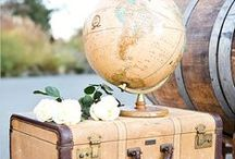 Travel Wedding Theme / Do you love to travel? Travel is your mood inspiration? this is perfect for you