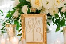 Table numbers / Different ways to nominate your guests' tables. Number are simpliest way for me. You have only to personalize them.