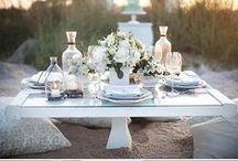 Picnic Wedding / Open air wedding, informal and coloured