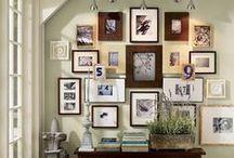 Wall Art / Using photos, plates, ceramics and more to transform bare walls to Art Walls.