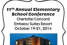 NC Elementary Conferences / This Pinterest board is a place to find information about state and regional conferences hosted by the NC Association of Elementary Educators. Our 10th Annual Elementary School Conference will be held in Greensboro, NC on October 20 - 22, 2013, and our other regional conferences will be held in various locations during the year. We hope you'll plan to attend one of these awesome sessions!