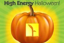"American Energy: No Tricks, Just Treats / With colder weather creeping across the country, we think of the energy the U.S. oil and natural gas industry is providing for Americans' lives, including heating homes and businesses. So, have some fun.  Print out our patterns, trace on your pumpkin, carve, and voila! – your very own ""High Energy Pumpkin!""  / by Energy Tomorrow"