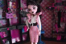 Monster high doll - crochet dresses - self-made / Monster high dolls - crochet dresses