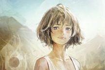 manga-anime1 / Personnages manga, idées, imagination et poses.
