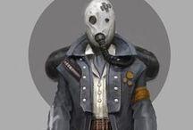 personnages sciences-fiction1 / Personnages futuristes, les plus originaux possibles. Autour des  robots, armes non connues... Mais pas forcément