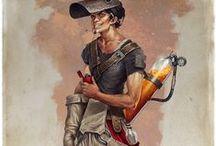 personnages steampunks1 / Personnages marquant du style Steampunk, avec beaucoup de recherche et d'imaginations