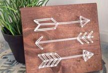 String Art ✂ / Una selección del mejor string art. Cuadros con hilos que se han ido abriendo un hueco en nuestra decoración de eventos :)