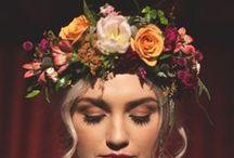 Floral Crown ♥ Tocados florales boda / Una bonita colección de coronas florales para esas novias que quieran dejar a un lado los clásicos velos ^^