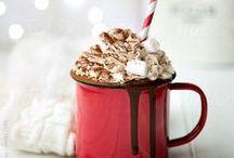 Au coin de la cheminée... / Café, chocolat chaud et gourmandises...