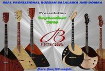PVA Electric Balalaika and Domra / Musical Instruments. Ethnic Instruments. Real russian folk electric instruments. Electric Balalaika. Electric Domra.
