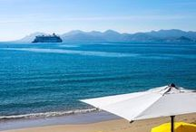 Cannes / Welcome in Cannes, famous city all over the world for film festival.  The charm of french riviera seaside with an active city around trade fares, night life, shopping, beaches & nature. #rivieracollections #staywithus #cannes #shorttermrentals
