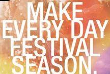 Festivalsaison / Alles was gute Laune macht und nicht auf einem Festival fehlen sollte!