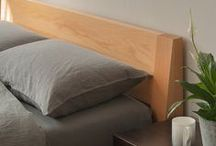 Beech wood - beds etc / A range of beds and interior design accessories in beech...