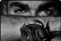 Art - A Man's Face In B/W -