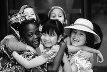 B/W Children From All Over The World