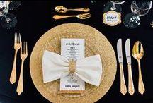 Hochzeitsinspirationen in schwarz, gold, weiß