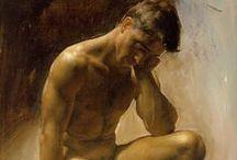 Art- Paintings - A Nude Man -