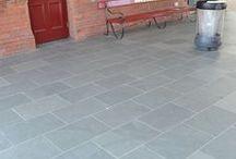 Brazilian Grey Green Floor tiles / Natural Slate from Brazil - buy it from www.bestpricestone.co.uk