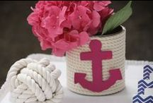 Nautical Blue and Pink Bridal Shower