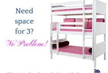 Kids Shared Bedroom Furniture / Do your kids share a bedroom? These fun beds are perfect for twins, triplets, quadruplets or sleepovers!