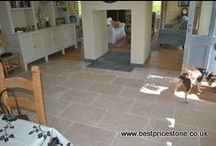 Dijon Tumbled Limestone / A brilliant antiqued limestone from Egypt - Dijon tumbled limestone is extremely hard wearing and competitively priced - check it out on our web site at Best Price Stone Ltd