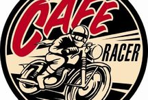 Cafe Racer / A café racer is a light-weight, lightly-powered motorcycle optimized for speed and handling rather than comfort — and optimized for quick rides over short distances. With bodywork and control layout recalling early 1960's Grand Prix road racing motorcycles, café racers are noted for their low slung racing handlebars, prominent seat cowling and elongated fuel tanks, often with indentations to allow the rider's knees to grip the tank.