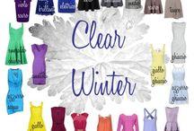 Clear winter / Färganalys