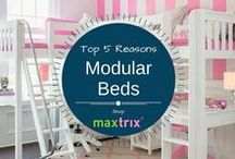 Modular Beds & Furniture / The kid's largest furniture system with more than 20,000 different combinations with parts and accessories. Create your own style today and watch as our system grows up with your child!
