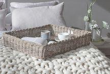 Plaids,dessus de lit en tricot