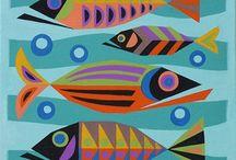 Pesci creativi e mare