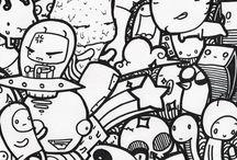 Scarabocchi doodles zentangles