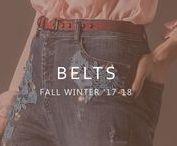 BELTS   AW17 / Os cintos são o acessório de moda ideal para finalizar o seu coordenado e realçar a sua feminilidade.   Belts are the perfect accessory to complete your outfit and to enhance your femininity.