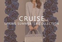 CRUISE COLLECTION | SS18 / Romantic and sweet, where nature can be found in very feminine details… This is how the summer 2018 collection is defined. A feeling of lightness and freshness is achieved by the touch and texture of the materials used, rising up an urban, fresh and fun collection.