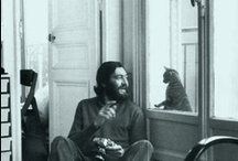 lovely cats and their famous men