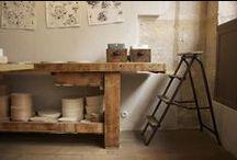 · atelier / work place. hiding spot.