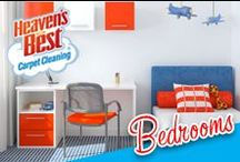Bedrooms / A bedroom should be a place of retreat where you can go and escape from the world. Have Heaven's Best Carpet Cleaning company help you keep it in pristine condition so it can a beautiful room. Call Brad Beseth in San Marcos TX for a cleaning estimate today. 512-865-0092