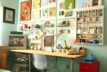Workspace / Design and style ideas for your workspace, study, craft space etc